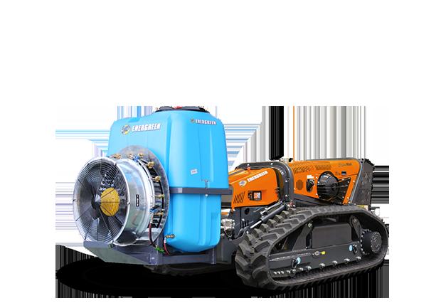 robomax - equipement - pulverisateur eg400 - sprayer - energreen france porte outils professionnels