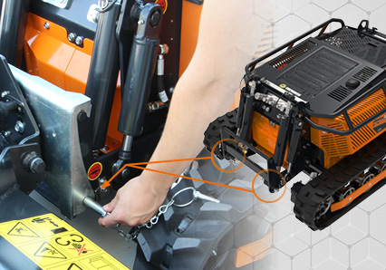 robomini - accrochage rapide des outils - energreen france porte outils professionnels