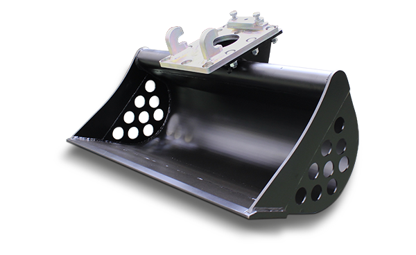 equipements professionnels - godet de curage - ditch bucket - nettoyage fossé - energreen france porte outils professionnels