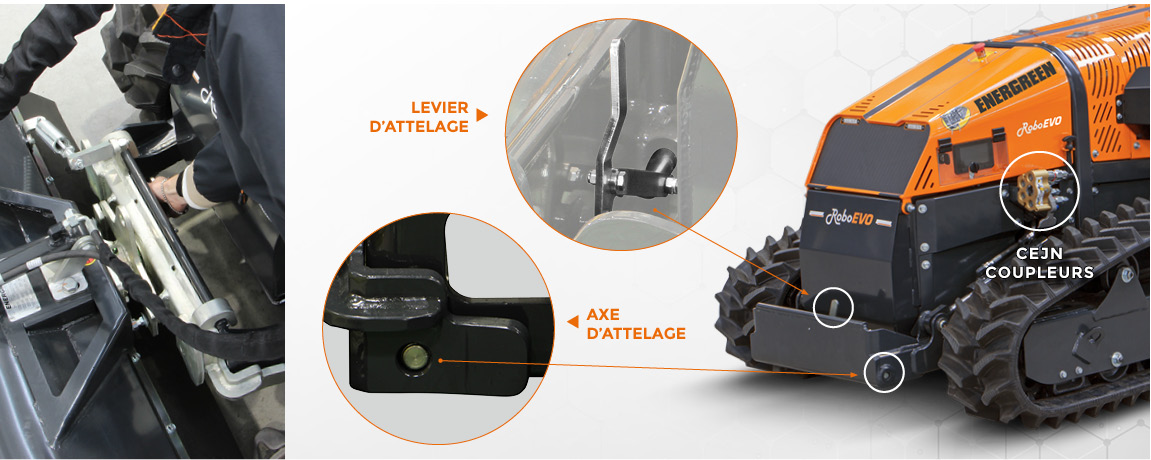 roboevo - relevage des outils - energreen france porte outils professionnels