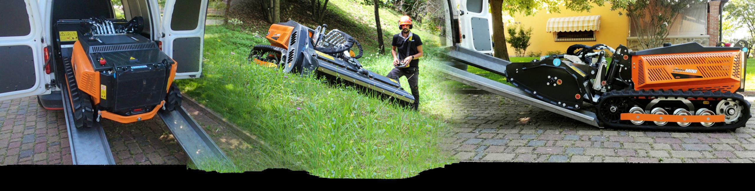robomini - machine compacte - energreen france porte outils professionnels