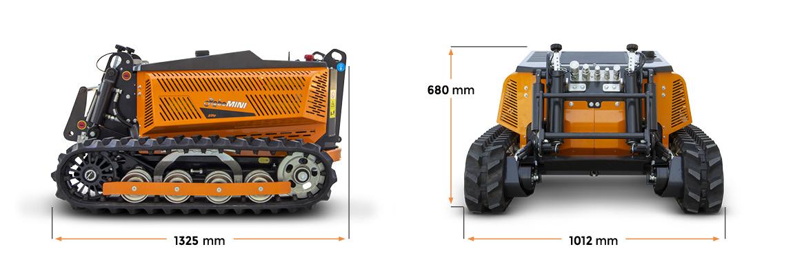 robomini - dimensions - energreen france porte outils professionnels