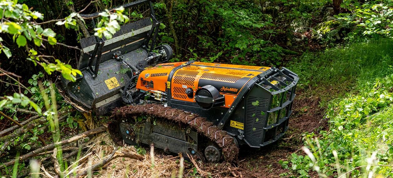 porte outils - robomidi - tete forestier - energreen france porte outils professionnels
