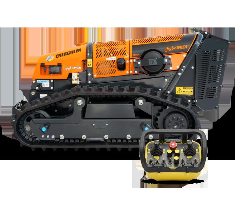 robomidi - machine multifonction - porte outils télécommandé - energreen france porte outils professionnels